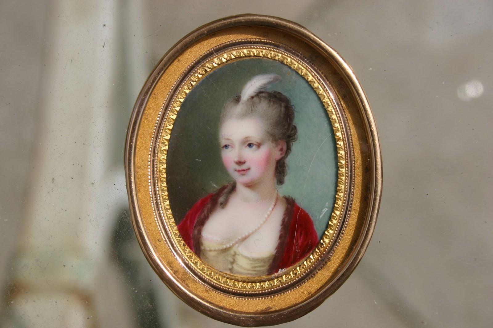 Portrait miniature en france email de nicolas andre courtois for Peinture sur email