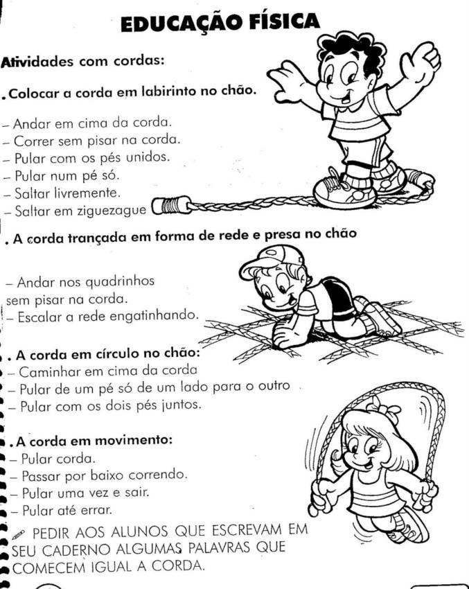 Amado EDUCAÇÃO FÍSICA - 45 ATIVIDADES EXERCÍCIOS DESENHOS COLORIR  HA49