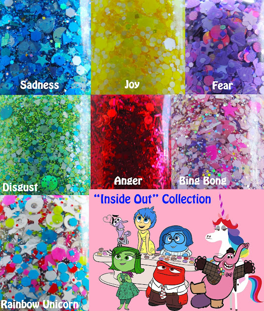 Inside Out Nail Polish Collection Sadness Joy Fear Disgust Anger Bing Bong Rainbow Unicorn