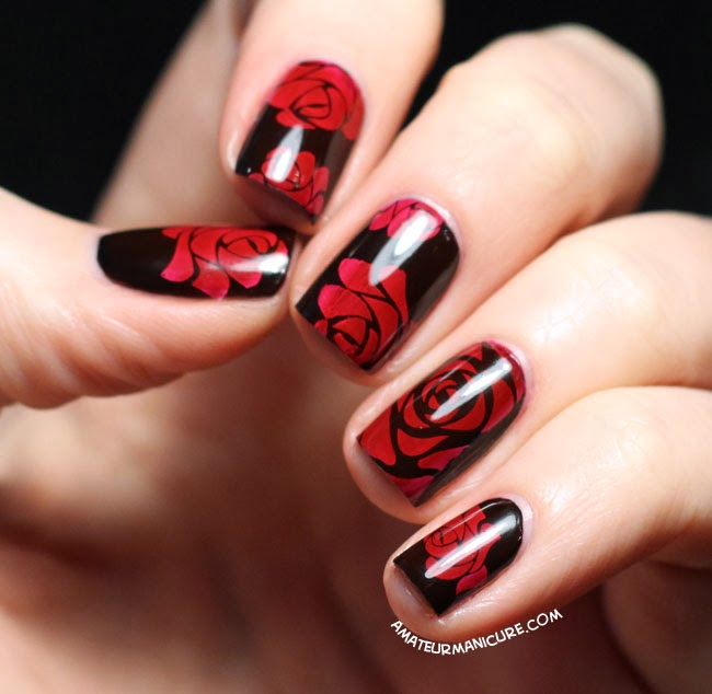 Amateur Manicure A Nail Art Blog Painting The Roses Red