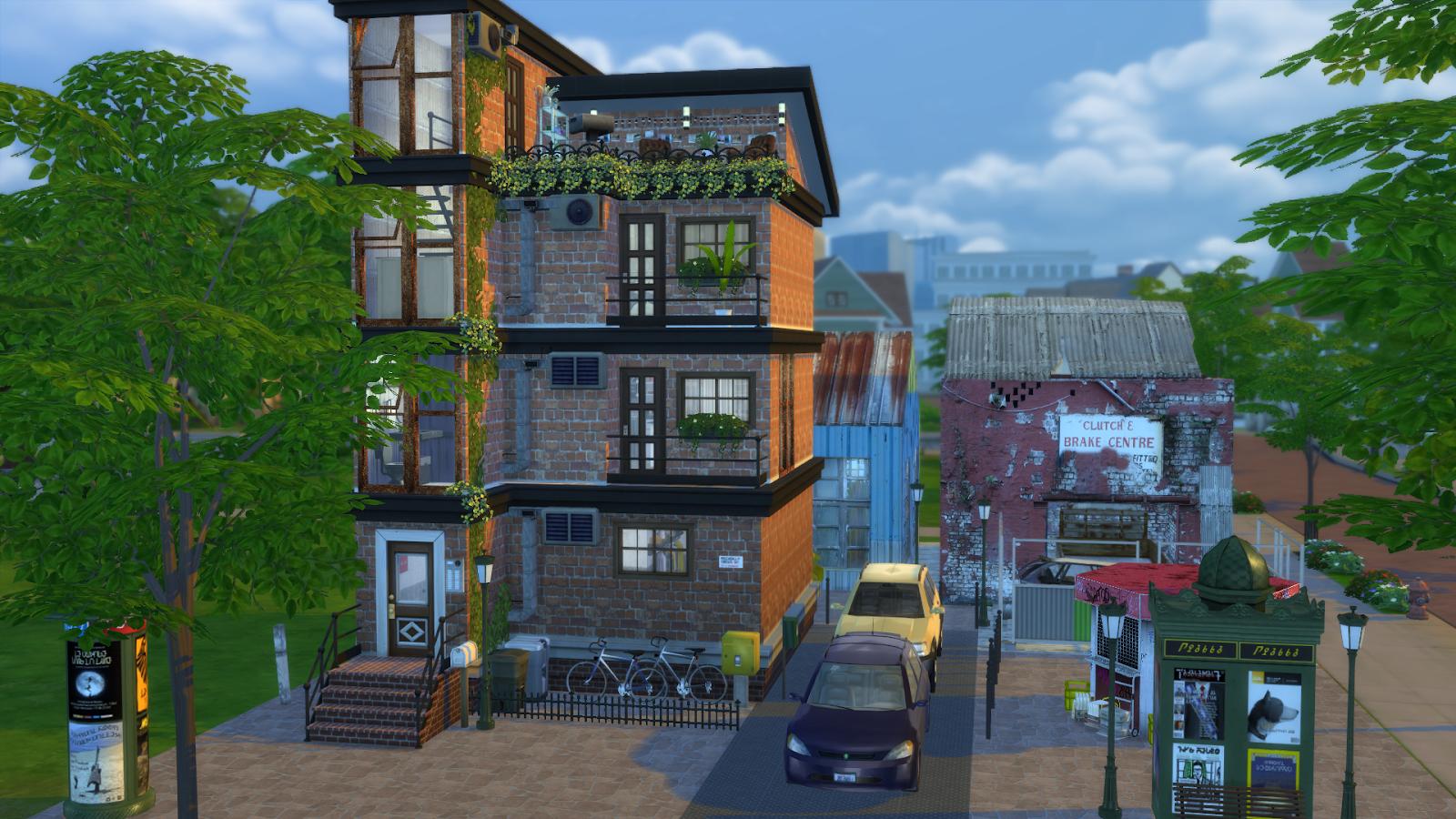 Students apartment dinha for Apartment design sims 3