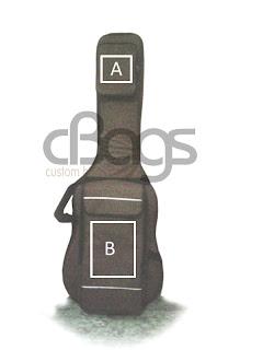 tas gitar listrik bordir logo