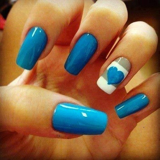 Easy Red White And Blue Nail Art Designs Absolute Cycle