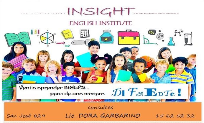 ESPACIO PUBLICITARIO: INSIGHT ENGLISH INSTITUTE