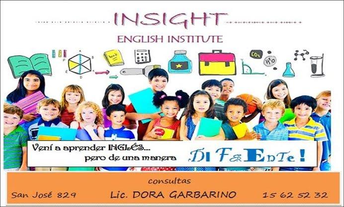 ESPACIO PUBLICITARIO: INSIGHT ENGLISH INSTITUTE