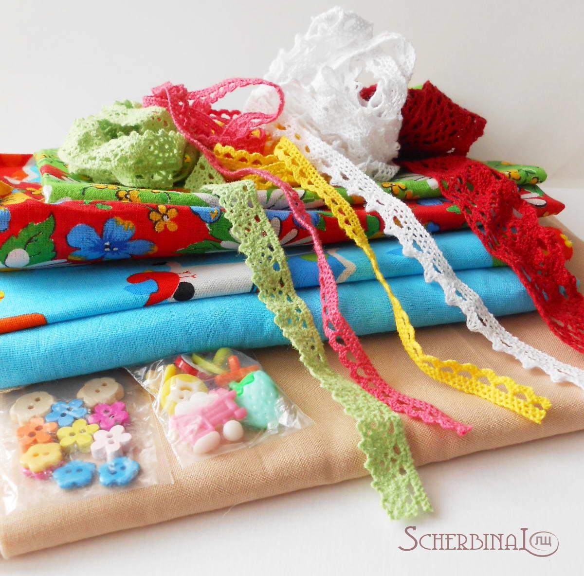 материалы для игровой текстильной куклы