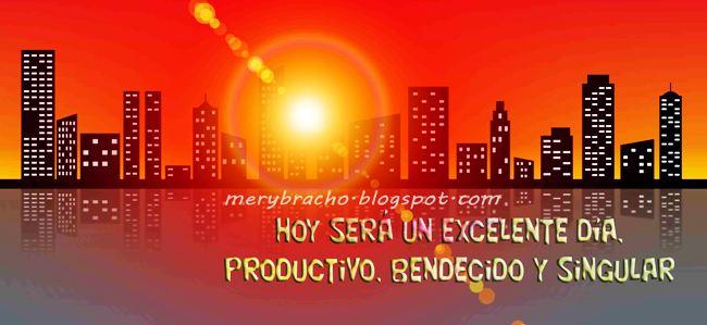 Portada para muro del facebook de Ciudad en el amanecer. Buenos días, Bendiciones.