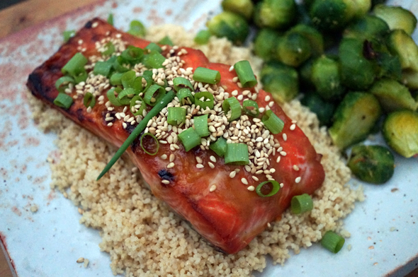 letter blocks say what?: Recipe of the Week: Miso-Ginger Glazed Salmon