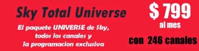 paquete universe de sky por solo $ 799 al mes