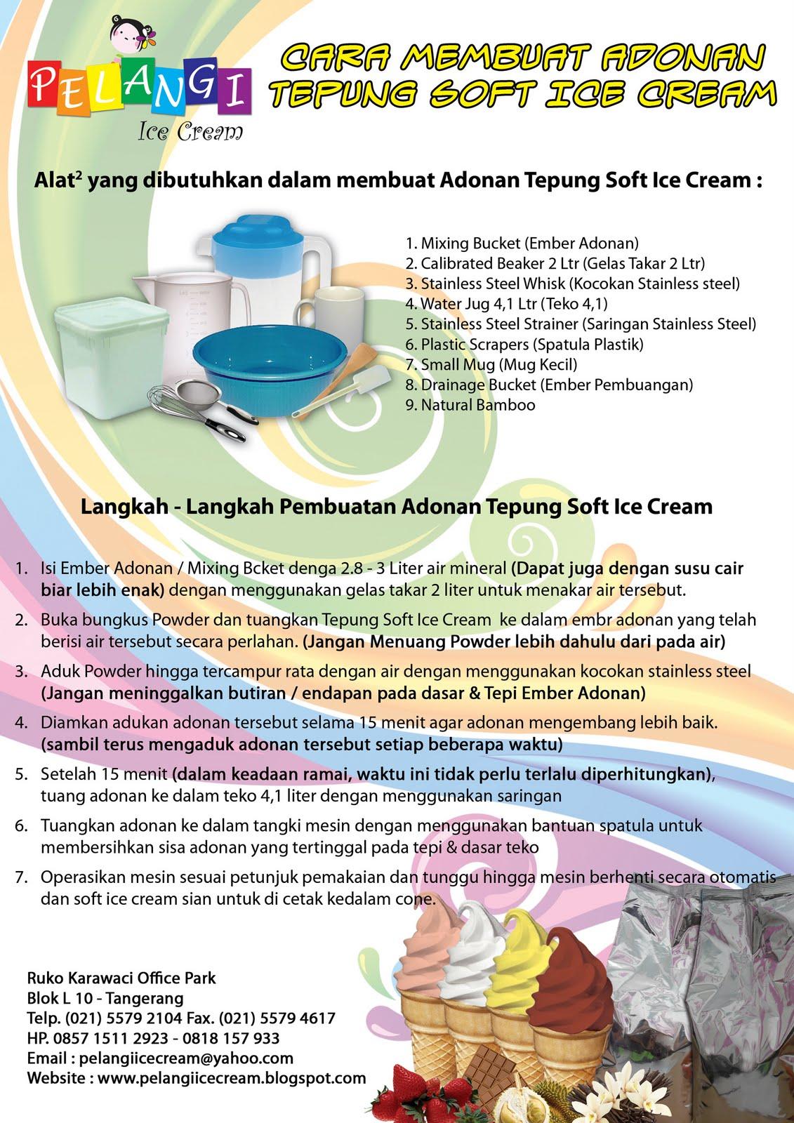 resep cara membuat ice cream lembut resep masakan dan resep