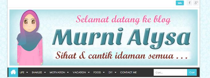 Tempahan Design Blog Murni Alysa
