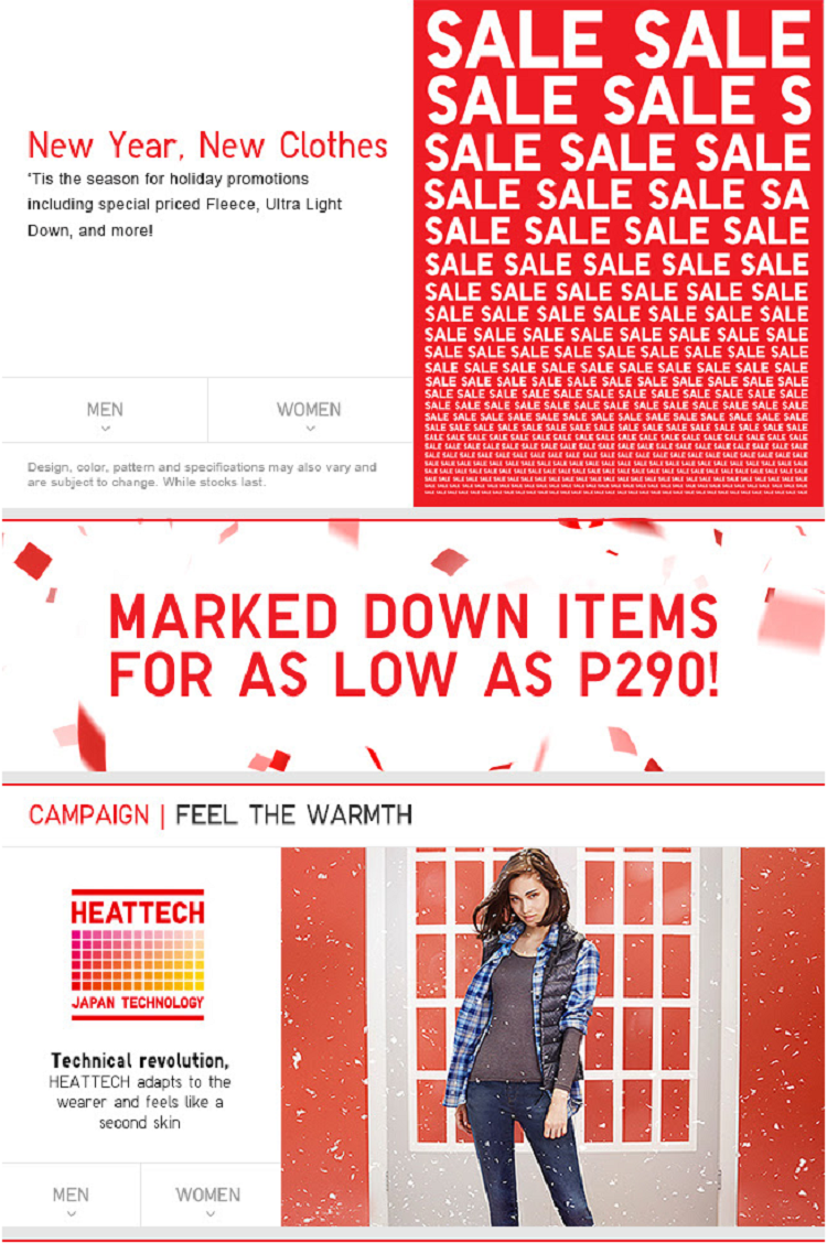 Sale Alert: Uniqlo Philippines - New Year, New Clothes!