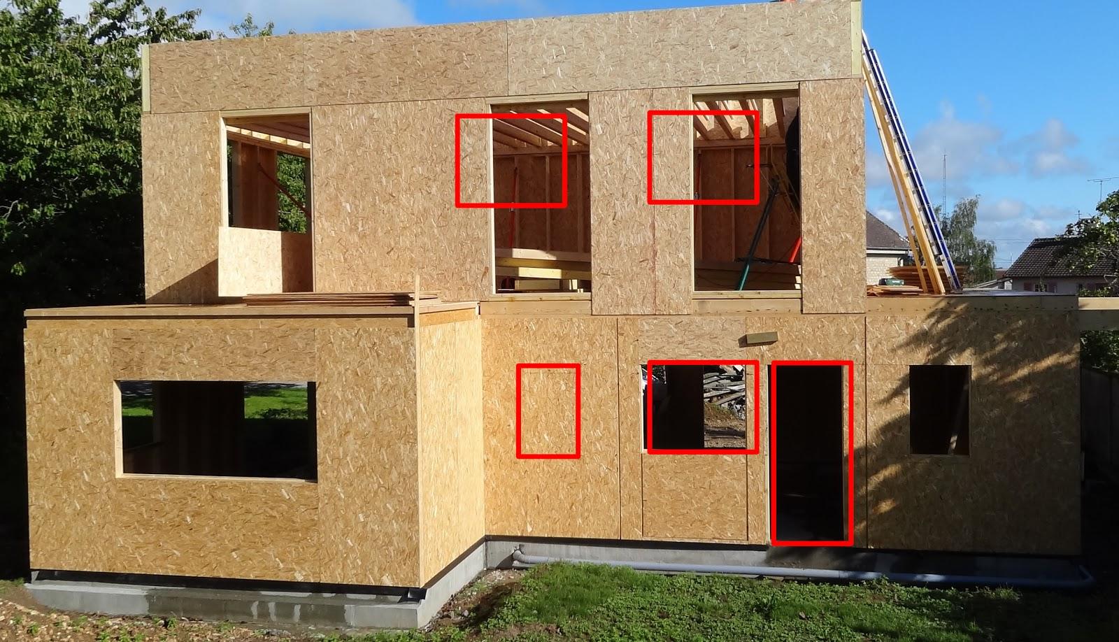 Une maison en bois probl me aux ouvertures - Probleme maison ossature bois ...