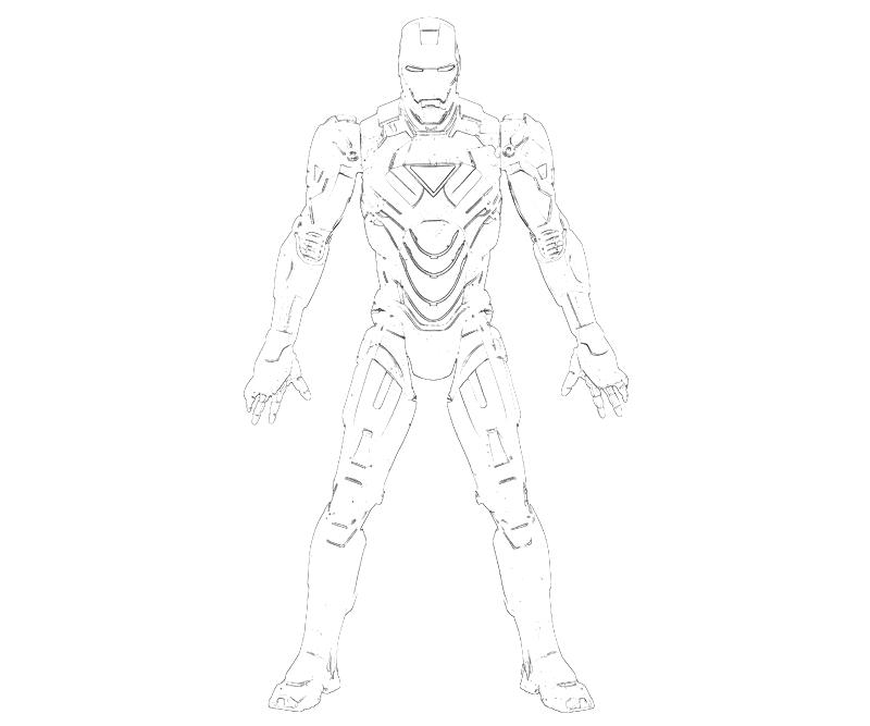 Printable Iron Man 2 Super Hero Coloring Pages