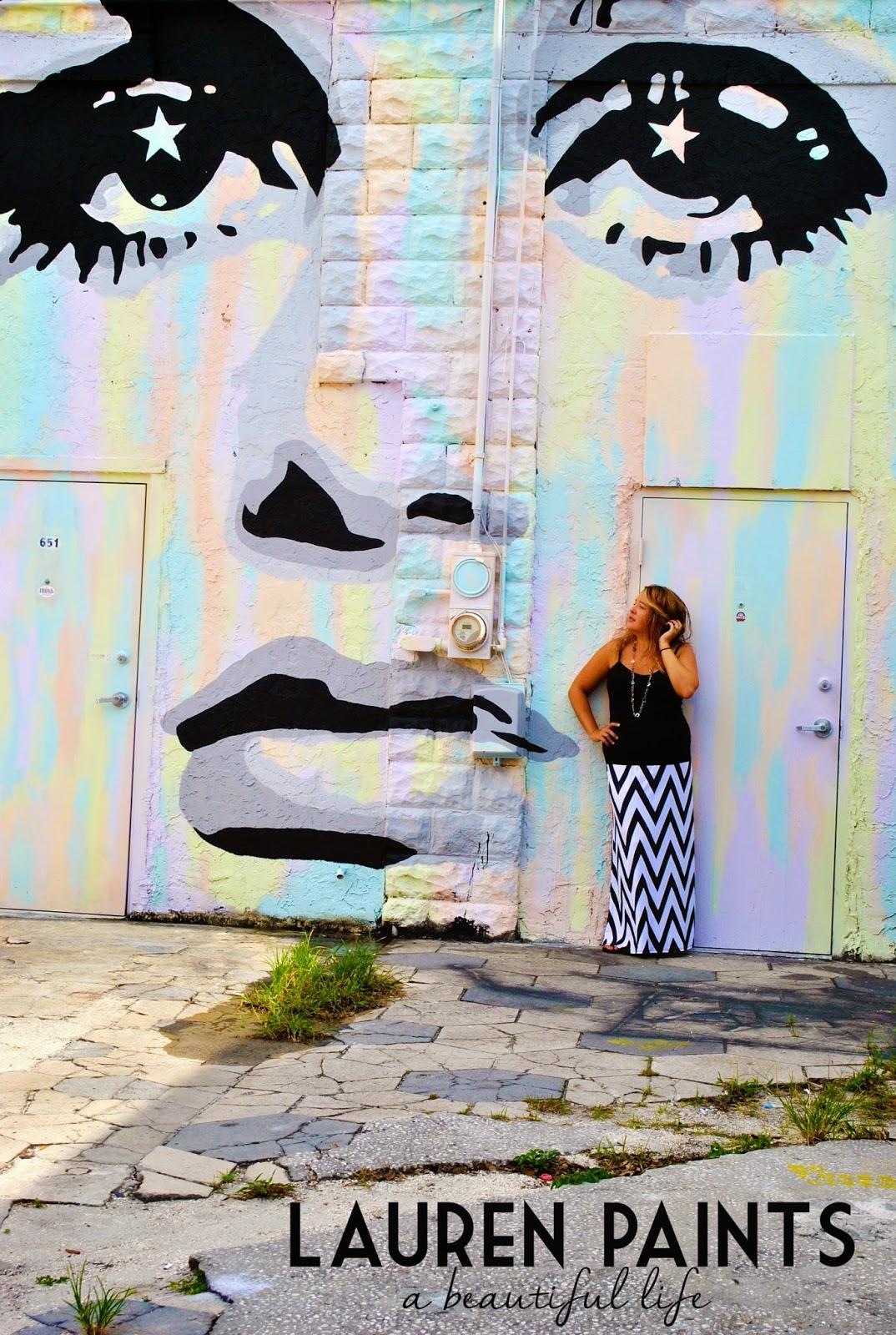 Amazing Twiggy artwork - Downtown St Petersburg Florida street art