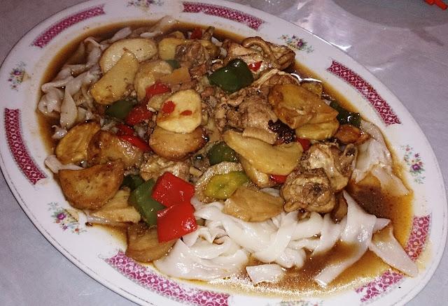 Lao Tuo Jia, Xinjiang, vegetarian noodles