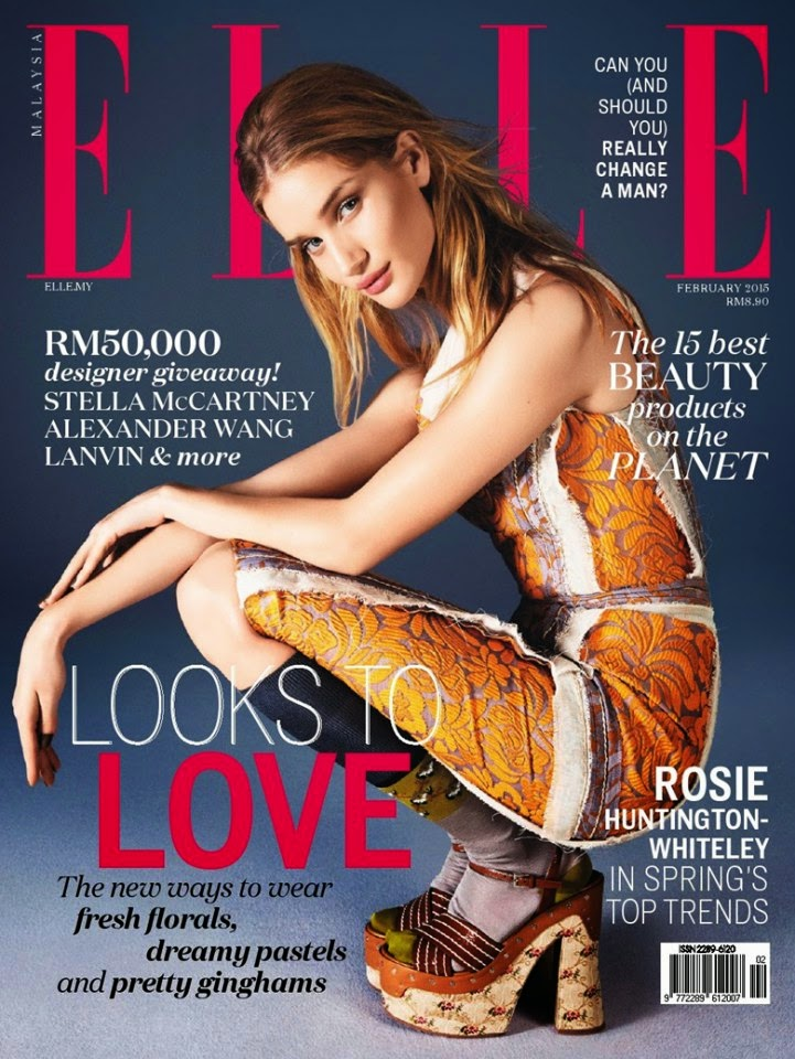 Model, Actress: Rosie Huntington-Whiteley For Elle, Malaysia