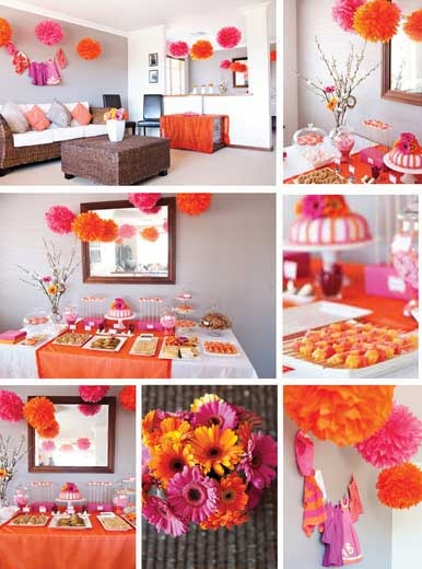 Studio Sol Invitations And Design Dubai Hot Pink Orange Baby