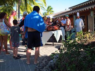 Playa Pesquero outdoor pig roast