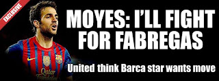 negotiations with Barcelona for Cesc Fabregas