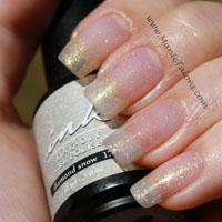 Glam and Glits Ink Soak Polish Diamond Snow Swatch