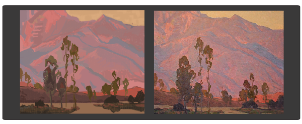 Study by Mary Highstreet (L), Original by Glen Dean (R)