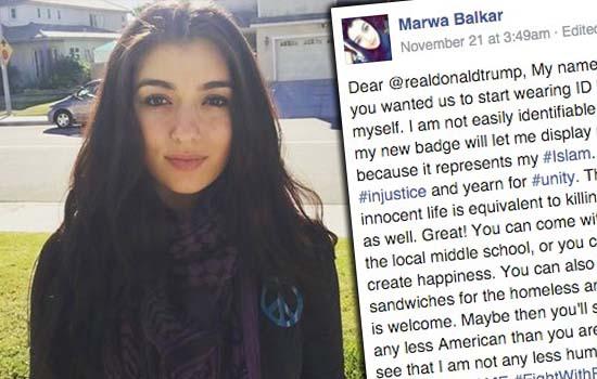 Cadangan Donald Trump agar semua umat Islam pakai badge dan ID dibidas gadis jelita ini