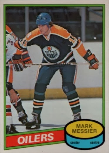 mark messier edmonton oilers rookie hockey card