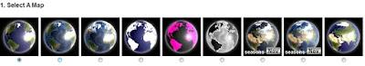 selecionando globo