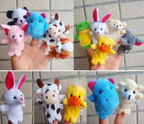 Boneka jari dengan 10 karakter binatang lucu