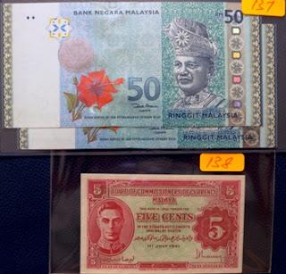 Malaya 5 Cents 1941 (variety b)