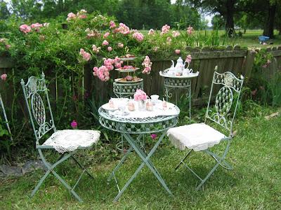 Mesa de chá para jardim