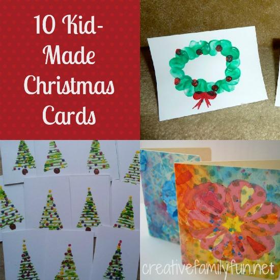 10 Kid-Made Christmas Cards - Creative Family Fun