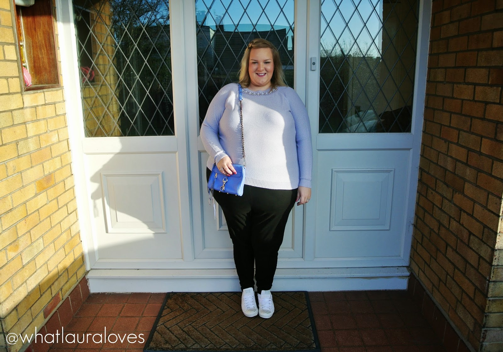 Plus Size Embellished Neck Jumper in Pastel Lilac from JD Williams