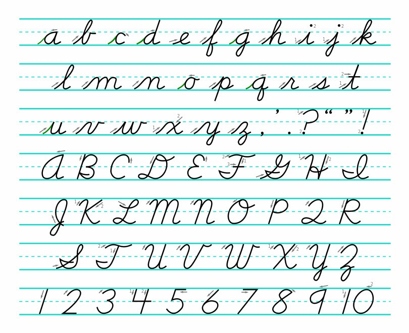 Images gallery of handwriting in cursive