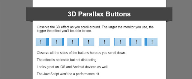 3D Button Parallax