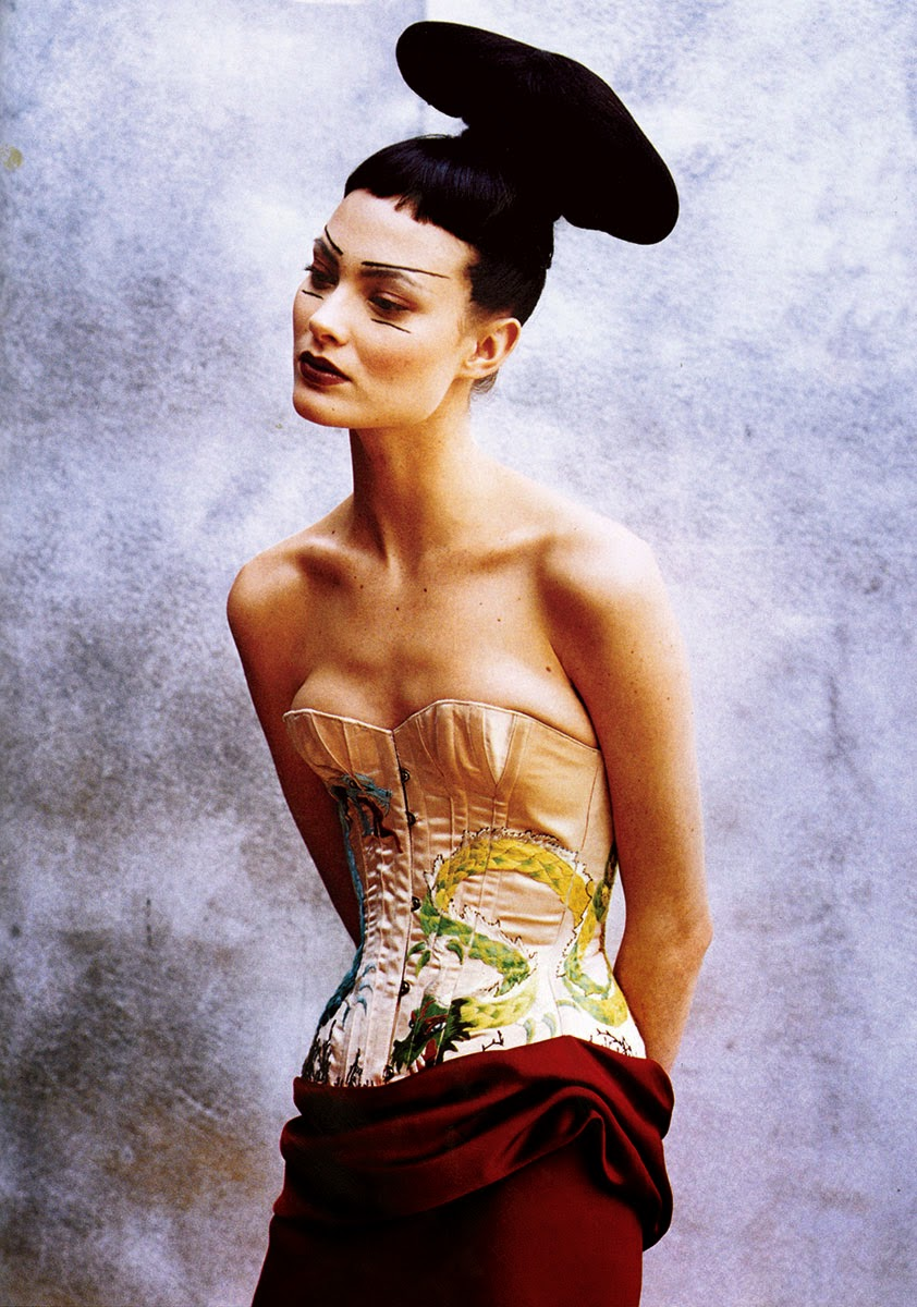 Shalom Harlow by Peter Lindbergh for Vogue US (April 1997) | Ses Rêveries