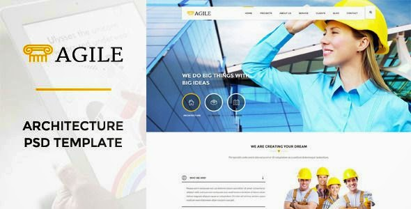 Best Building Construction PSD Template