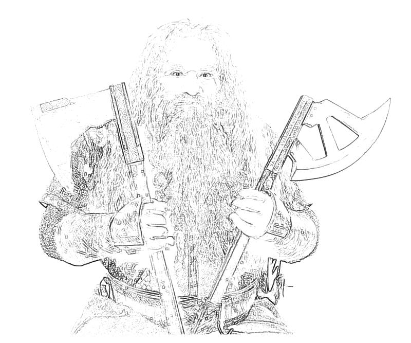 Gimli Lord Of The Rings Coloring Pages Coloring Pages