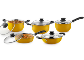Pepperfry: Buy Ideale Cook And Serve Mustard Cookware at 73% off & 25% Cashback Set of 10 Pcs, worth Rs. 4999 at Rs. 949 only