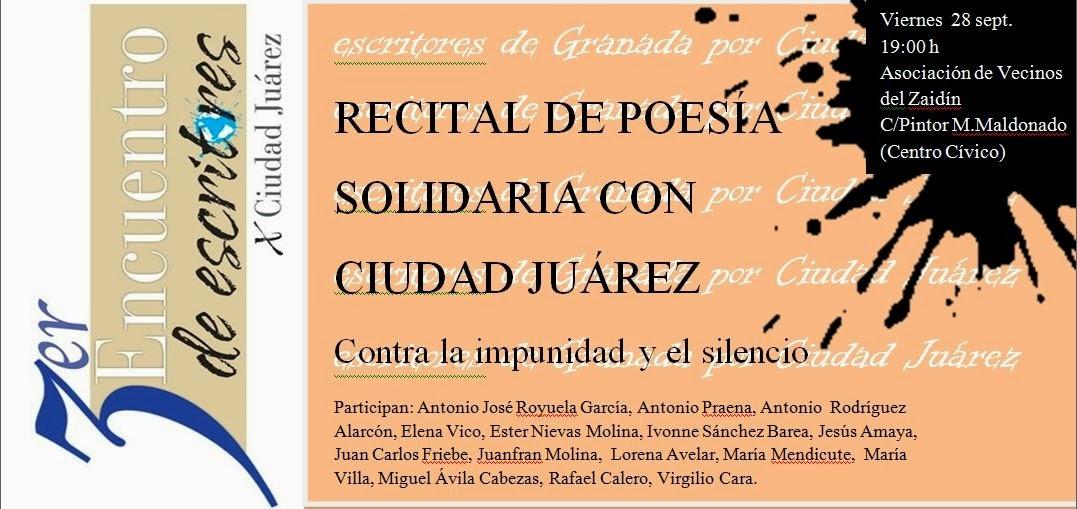 ESCRITORES DE GRANADA CON CIUDAD JUÁREZ