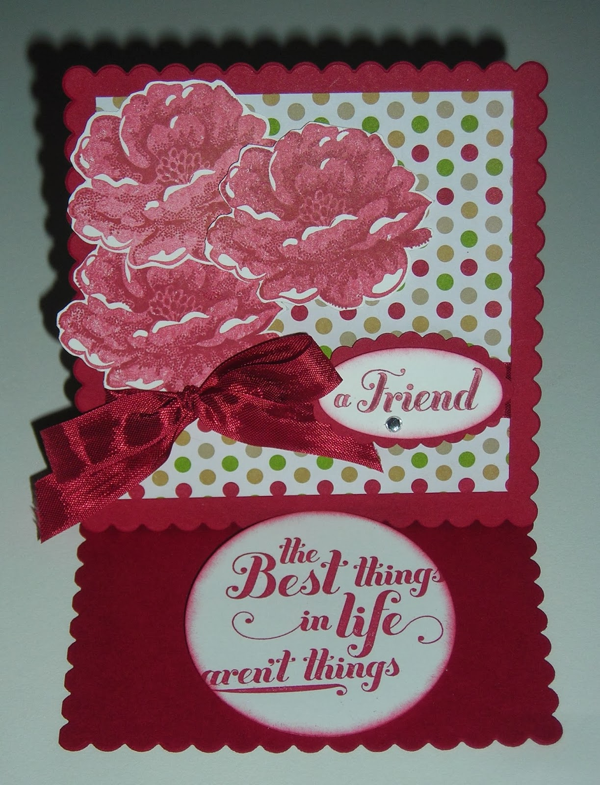 Stampin up stippled blossom friend card