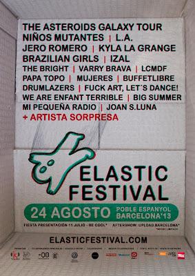 Elastic Festival 2013 cartel Barcelona