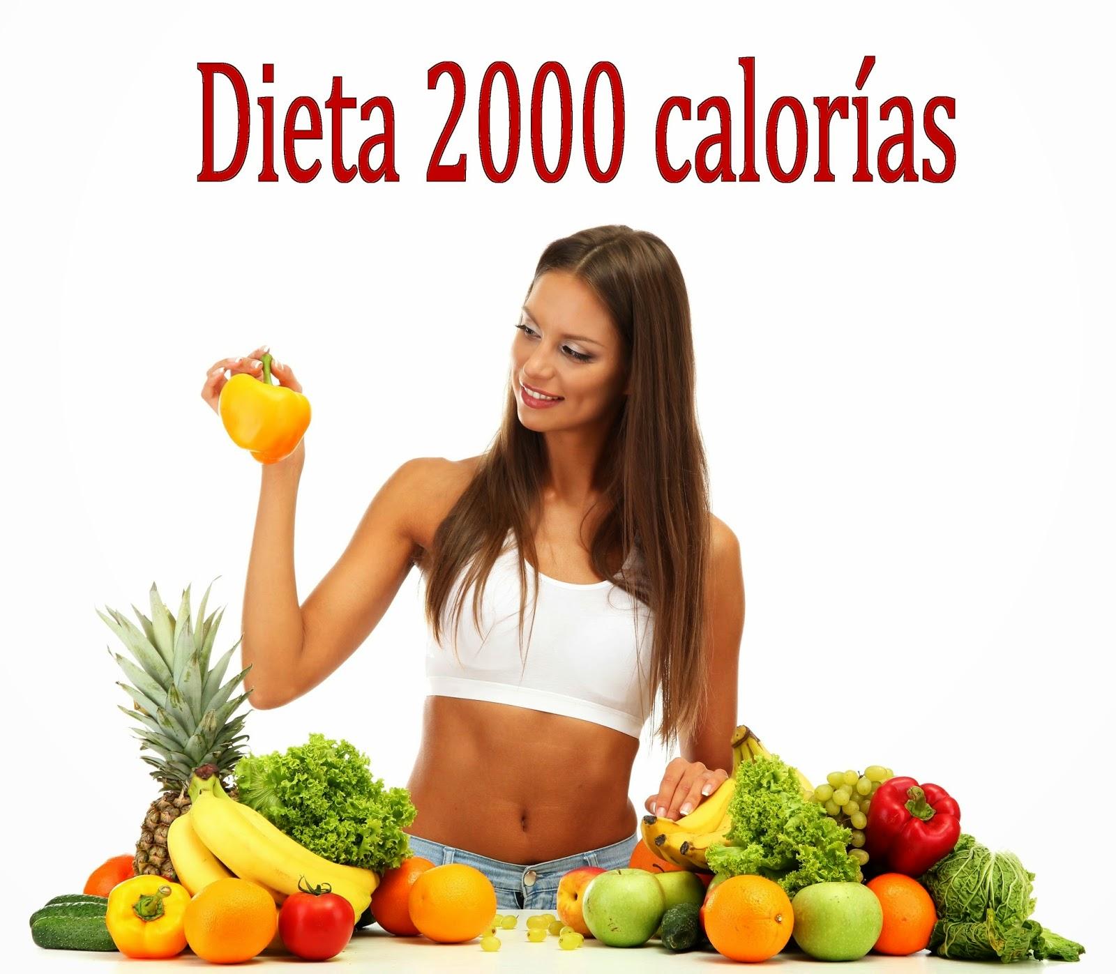dieta 2000 calorias para perder peso