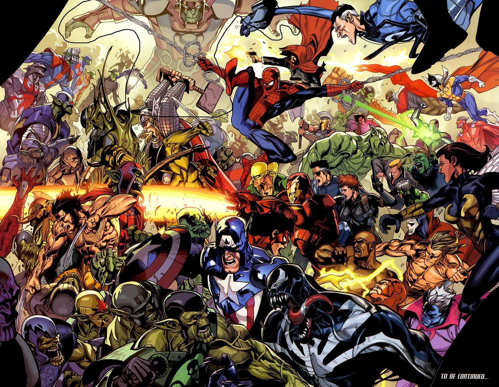 All Marvel Comics Together HD Desktop Wallpapers ~ Cartoon Wallpapers Marvel