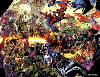 Mavel Comic All Heroes Together