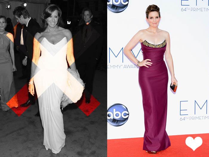 MINHA MÃE QUER SER MOCINHA_Donna Karan_Met Ball 2012_Tina Fey_Emmy 2012_red Carpet_Vestido de gala_Vestido para senhoras