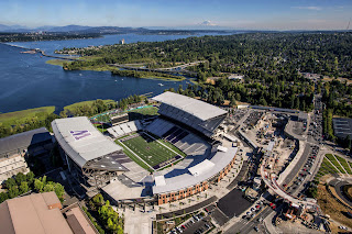 Ariel view of the new Husky Stadium