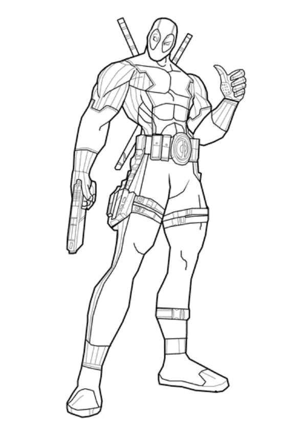 Free coloring pages of deathstroke for Deathstroke coloring pages
