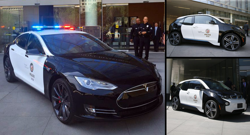 The Lapd Gets A Tesla Model S P85d And A Bmw I3